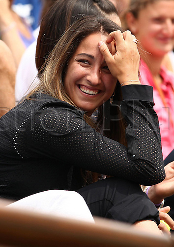 20 05 2011  Paris, France.  WTA French Open 2011 Qualif Paris France 20 May 11 Tennis WTA Tennis women Tour Grand Slam Roland  Open Qualification Picture shows Aravane Rezai FRA laughing in the stands