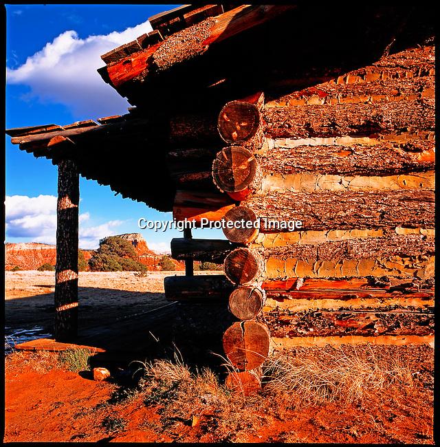Log Cabin ghost Ranch NM