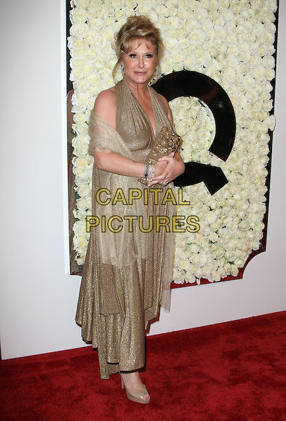 Kathy Hilton.The QVC Red Carpet Style Event held at The Four Seasons at Los Angeles in Los Angeles, California, USA..February 23rd, 2012.full length gold dress halterneck wrap clutch bag.CAP/ADM/KB.©Kevan Brooks/AdMedia/Capital Pictures.