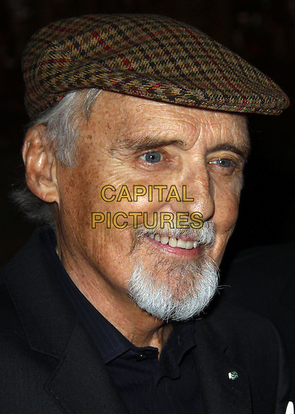 DENNIS HOPPER .2009 Americans for the Arts National Art Awards and Gals held at Cipriani 42nd Street, New York, NY, USA..October 5th, 2009.headshot portrait goatee facial hair brown flat cap hat.CAP/ADM/PZ.©Paul Zimmerman/AdMedia/Capital Pictures.
