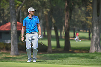 Daniel Berger (USA) reacts to nearly sinking his chip shot on  11 during round 2 of the World Golf Championships, Mexico, Club De Golf Chapultepec, Mexico City, Mexico. 3/2/2018.<br /> Picture: Golffile | Ken Murray<br /> <br /> <br /> All photo usage must carry mandatory copyright credit (&copy; Golffile | Ken Murray)