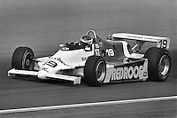 Bobby Rahal drives a March 82C Cosworth during practice for the 1982 Indianapolis 500.