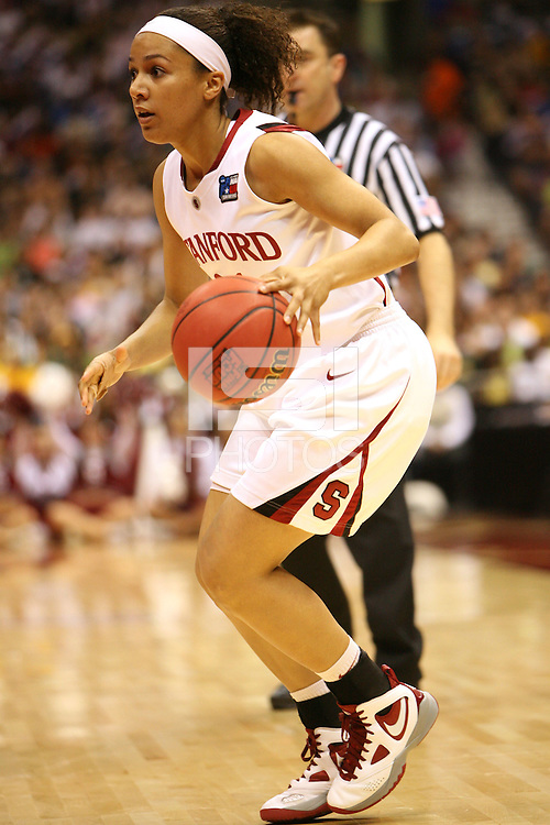 SAN ANTONIO, TX - APRIL 4: Rosalyn Gold-Onwude of the Stanford Cardinal during Stanford's 73-66 win over Oklahoma in the Final Four semi-finals at the Alamo Dome on April 4, 2010 in San Antonio, Texas.