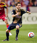 Philadelphia Union midfielder Vincent Nogueira (5) controls the ball against Real Salt Lake in the first half Saturday, March 14, 2015, during the Major League Soccer game at Rio Tiinto Stadium in Sandy, Utah. (© 2015 Douglas C. Pizac)