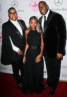 BEVERLY HILLS, CA, USA - OCTOBER 11: EJ Johnson, Elisa Johnson, Magic Johnson arrive at the 2014 Carousel Of Hope Ball held at the Beverly Hilton Hotel on October 11, 2014 in Beverly Hills, California, United States. (Photo by Celebrity Monitor)