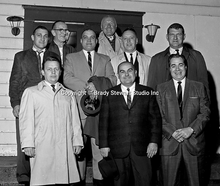 Bethel Park PA: The members of the Bethel Park Athletic Association - 1964.  This group asked Brady Stewart Jr to photograph selective Western PA football stadiums to determine what additional features to include in the new stadium design and school board proposal.  Members include; Big Jim Westhoff, Chet Lucido, Art Santomo, Nick Smergin