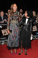 LONDON, ENGLAND. October 6, 2016: Naomie Harris &amp; Janelle Monae at the London Film Festival premiere for &quot;Moonlight&quot; at the Embankment Gardens Cinema, London.<br /> Picture: Steve Vas/Featureflash/SilverHub 0208 004 5359/ 07711 972644 Editors@silverhubmedia.com
