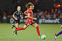 Portland, Oregon - Sunday April 17, 2016: Portland Thorns FC forward Nadia Nadim (9). The Portland Thorns play the Orlando Pride during a regular season NWSL match at Providence Park. The Thorns won 2-1.