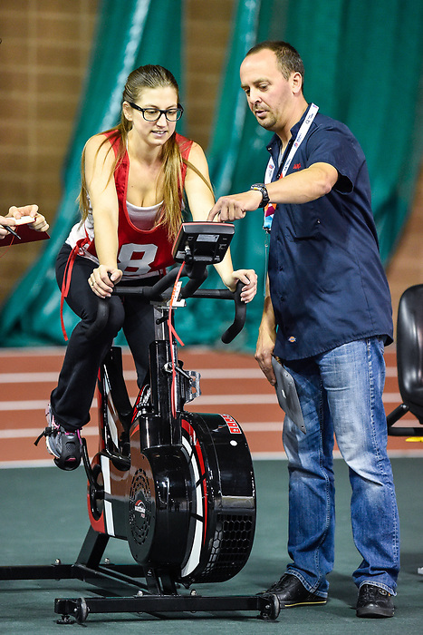 MONTREAL, QC - APRIL 29:  A participant takes part in a cycling test during the 2017 Montreal Paralympian Search at Complexe sportif Claude-Robillard. Photo: Minas Panagiotakis/Canadian Paralympic Committee