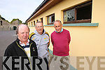 Members of the Lixnaw Hurling Club, pictured at the clubhouse which was vandalised last Friday night, from left: Sean Flaherty (chairman), Paul Wallace (secretary) and Thomas Fitzmaurice (PRO)