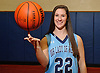 Lauren Hammersley, varsity girls basketball player at Our Lady of Mercy Academy, poses for a portrait in the school's gymnasium on Monday, Jan. 22, 2018. (Athlete of the Week feature)