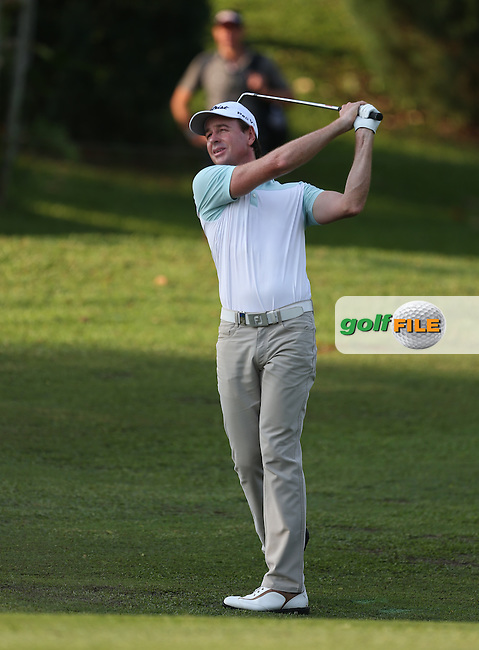 Brett Rumford (AUS) defence of the title looks impossible as his 70 left him T20 and 7 shots behind the leaders during Round Three of the The Championship 2014 from the Laguna National Golf & Country Club, Tampines, Singapore. Picture:  David Lloyd / www.golffile.ie