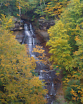 Pictured Rocks National Lakeshore, MI<br /> Fall colored foliage around Chapel Falls
