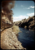 D&amp;RGW #360 C-21 Eastbound with excursion train Cibola Canyon.<br /> D&amp;RGW  Black Canyon, CO  Taken by Maxwell, John W.