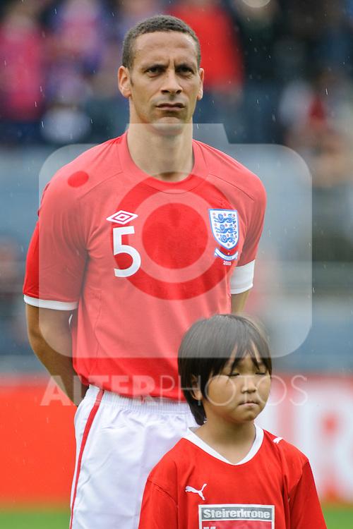 30.05.2010, UPC Arena, Graz, AUT, WM Vorbereitung, Japan vs England, im Bild Rio Ferdinand, England, EXPA Pictures © 2010, PhotoCredit: EXPA/ S. Zangrando