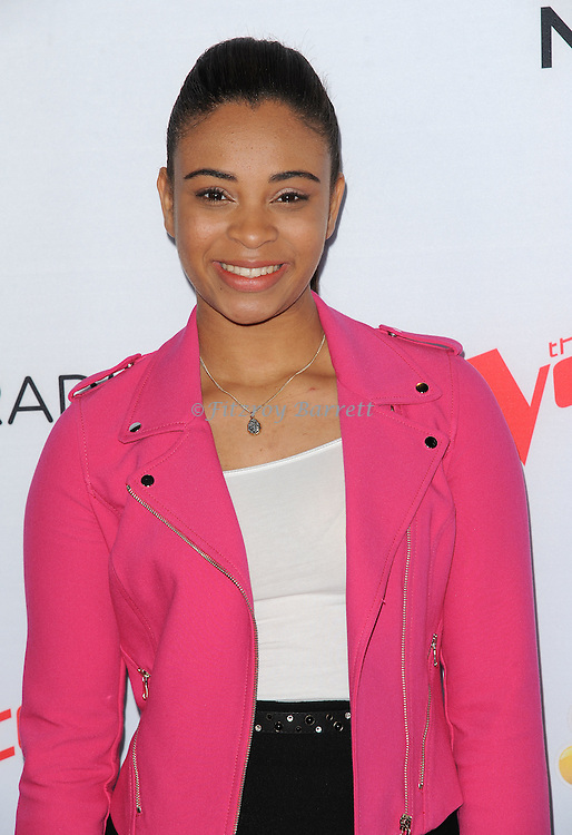 Koryn Hawthorne arriving NBC's The Voice Season 8 Red Carpet Event held at the Pacific Design Center Los Angeles CA. April 23, 2015