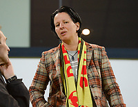20170919 - LEUVEN , BELGIUM : Belgian former assistant coach Tamara Cassimon pictured during the female soccer game between the Belgian Red Flames and Moldova , the first game in the qualificaton for the World Championship qualification round in group 6 for France 2019, Tuesday 19 th September 2017 at OHL Stadion Den Dreef in Leuven , Belgium. PHOTO SPORTPIX.BE | BELGA | DAVID CATRY