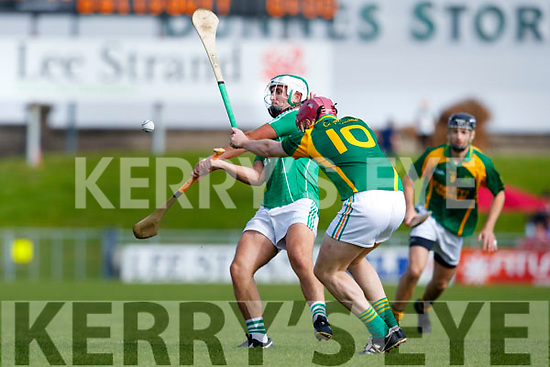 Daniel O'Carroll Ballyduff in action against Sean Maunsell Kilmoyley in the Senior County Championship Semi Finals at Austin Stack Park on Sunday.