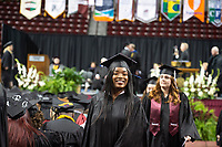 Spring Graduation in Humphrey Coliseum - second commencement ceremony, for the College of Arts and Sciences, College of Architecture, Art and Design and its School of Architecture, and the College of Veterinary Medicine.<br />  (photo by Megan Bean / &copy; Mississippi State University)