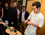CORAL GABLES, FL - JULY 17: (EXCLUSIVE) Austin Mahone poses backstage during the Premios Juventud 2014 at The BankUnited Center on July 17, 2014 in Coral Gables, Florida.  (Photo by Johnny Louis/jlnphotography.com)