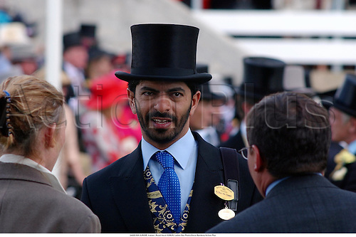 SAEED BIN SUROOR, trainer, Royal Ascot 020620, Ladies Day Photo:Steve Bardens/Action Plus...Horse Racing 2002.trainers portrait