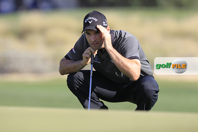 Oliver Wilson (ENG) on the 10th green during Thursday's Round 2 of the 2015 Commercial Bank Qatar Masters held at Doha Golf Club, Doha, Qatar.: Picture Eoin Clarke, www.golffile.ie: 1/22/2015