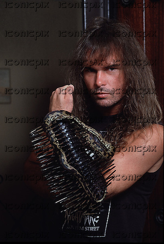 Slayer - guitarist Kerry King - exclusive photosession in Los Angeles CA USA - 1987.   Photo credit: Alex Solca/IconicPix