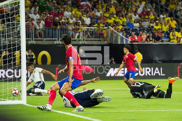 Action photo during the match Colombia vs Costa Rica, Corresponding to  Group -A- of the America Cup Centenary 2016 at NRG Stadium.<br /> <br /> Foto de accion durante el partido Colombia vs Costa Rica, Correspondiente al Grupo -A- de la Copa America Centenario 2016 en el Estadio NRG , en la foto: (Frank Fabra de Colombia<br /> <br /> <br /> 11/06/2016/MEXSPORT/Jorge Martinez.