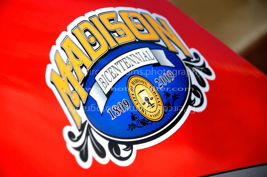 City of Madison (Indiana) sticker on the U-1 Oh Boy! Oberto.