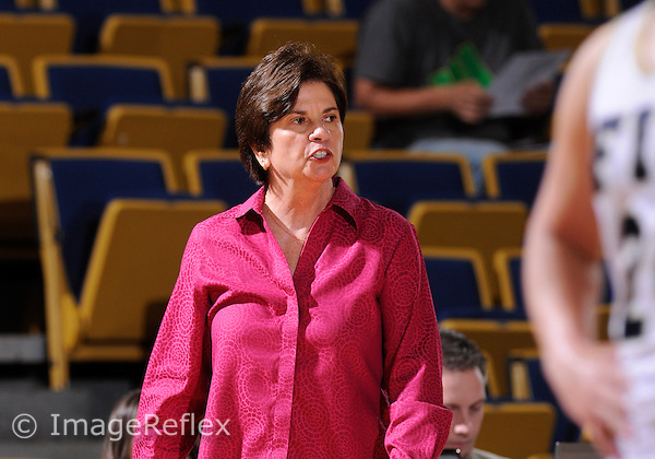 Florida International University Head Coach Cindy Russo during the game against Troy University. FIU won the game 82-76 on January 19, 2013 at Miami, Florida. .
