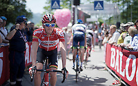 Jurgen Van den Broeck (BEL/Lotto-Soudal) at the start<br /> <br /> Giro d'Italia 2015<br /> stage 18: Melide (SUI) - Verbania (170km)