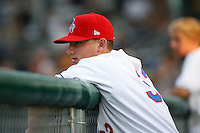 July 6th 2008:  Mark Sobolewski of the Auburn Doubledays, Class-A affiliate of the Toronto Blue Jays, during a game at Falcon Park in Auburn, NY.  Photo by:  Mike Janes/Four Seam Images