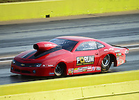 Sept. 21, 2012; Ennis, TX, USA: NHRA pro stock driver Richard Freeman during qualifying for the Fall Nationals at the Texas Motorplex. Mandatory Credit: Mark J. Rebilas-US PRESSWIRE