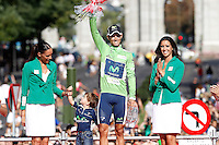 Alejandro Valverde with the green jersey celebrates the victory in the Overall Points Standing of La Vuelta 2012.September 9,2012. (ALTERPHOTOS/Acero)