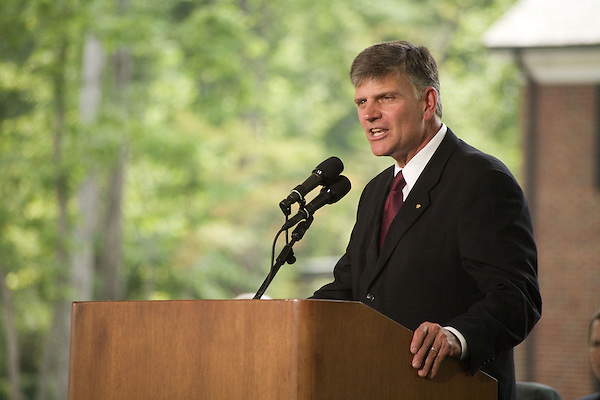 Thursday, May 31, Charlotte, North Carolina. Dedication ceremony for the new Billy Graham Library in Charlotte, North Carolina.. Franklin Graham spoke of his father's desire to have the library be about faith, not himself.