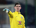 Thibaut Courtois of Chelsea during the premier league match at the John Smith's Stadium, Huddersfield. Picture date 12th December 2017. Picture credit should read: Simon Bellis/Sportimage