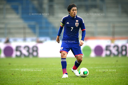 Yasuhito Endo (JPN),<br /> NOVEMBER 16, 2013 - Football / Soccer :<br /> International friendly match between Japan 2-2 Netherlands at Cristal Arena in Genk, Belgium. (Photo by Kenzaburo Matsuoka/AFLO)