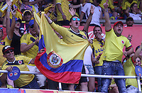 BARRANQUILLA -COLOMBIA, 1-SEPTIEMBRE-2016.Hinchas  de Colombia  alientan a su equipo  contra  Venezuela durante el  encuentro  por las eliminatorias al mundial de Rusia 2018  disputado en el estadio Metropolitano Roberto Meléndez de Barranquilla./ Fans of Colombia cheer their team against of Venezuela during the qualifying match for the 2018 World Championship in Russia Metropolitano Roberto Melendez stadium in Barranquilla . Photo:VizzorImage / Felipe Caicedo  / Staff
