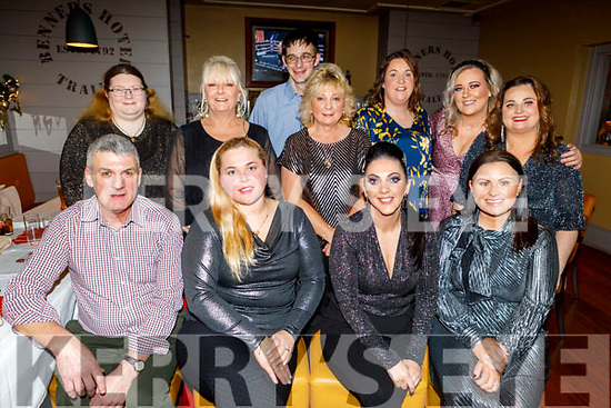 Checkout staff of North Circular Road Dunnes Stores enjoying their Christmas party in Benners Hotel on Saturday.<br /> Seated l to r: Michael O'Connor, Maria Kuleszewicz, Michelle Roche and Melissa Horan.<br /> Back l to r: Louise Lesley, Ann Foley, Simon McCarthy, Bernie Colligan, Marie Enright, Maura O'Connor and Roseanne O'Dwyer.
