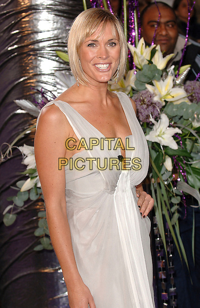 JENNI FALCONER.attending the 2007 British Soap Awards, .BBC Television Centre, London, England,.26th May 2007..half length hand on hip beige grey dress.CAP/ BEL.©Tom Belcher/Capital Pictures.