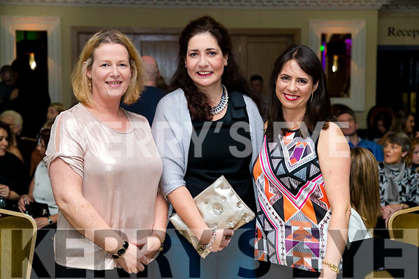 Katie Trant, Juliette Murphy and Majella O'Connell at the John Mitchels GAA 'Strictly Come Dancing' at Ballygarry House Hotel on Sunday night.