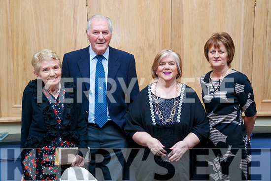 Siobhan Brosnan (Cork) Denis Brosnan (Cork and Castleisland, Kerry), Marjorie Flynn (Kerry Association Cork) and Emer Hogan (Tralee), pictured at the Kerry Supporters Social at Ballygarry House Hotel and Spa, Tralee, on Saturday night last.