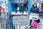 The staff of IT Tralee with their stand handing out the IT Tralee 2019 Prospectus in the square in Tralee on Saturday. Front. Helen Fitzgerald with her dog.<br /> Back L to r:  Bridget Crowley, Michael Hall, Carol Fitzgerald, Mary Rose Stafford, Sinead O&rsquo;Hagan and Denis Sheehan.