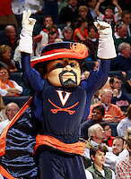 CHARLOTTESVILLE, VA- NOVEMBER 29: The Virginia Cavaliers mascot performs during the game on November 29, 2011 at the John Paul Jones Arena in Charlottesville, Virginia. Virginia defeated Michigan 70-58. (Photo by Andrew Shurtleff/Getty Images) *** Local Caption ***