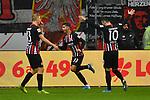 06.10.2019, Commerzbankarena, Frankfurt, GER, 1. FBL, Eintracht Frankfurt vs. SV Werder Bremen, <br /> <br /> DFL REGULATIONS PROHIBIT ANY USE OF PHOTOGRAPHS AS IMAGE SEQUENCES AND/OR QUASI-VIDEO.<br /> <br /> im Bild: Andre Silva (Eintracht Frankfurt #33) jubelt ueber sein Tor zum 2:1<br /> <br /> Foto © nordphoto / Fabisch