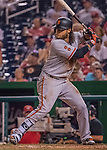 6 August 2016: San Francisco Giants shortstop Brandon Crawford in action against the Washington Nationals at Nationals Park in Washington, DC. The Giants defeated the Nationals 7-1 to even their series at one game apiece. Mandatory Credit: Ed Wolfstein Photo *** RAW (NEF) Image File Available ***
