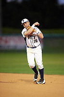 Pitt Panthers second baseman David Yanni (16) during practice before a game against the Ohio State Buckeyes on February 20, 2016 at Holman Stadium at Historic Dodgertown in Vero Beach, Florida.  Ohio State defeated Pitt 11-8 in thirteen innings.  (Mike Janes/Four Seam Images)