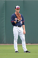 Minnesota Twins outfielder Max Kepler (67) shags fly balls during practice on February 25, 2014 at Hammond Stadium in Fort Myers, Florida.  (Mike Janes Photography)