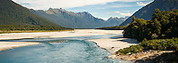 Arawata River near Haast and Jackson Bay, West Coast, South Westland, UNESCO World Heritage Area, New Zealand, NZ