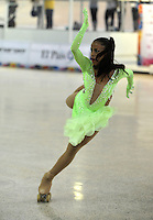 CALI – COLOMBIA – 22 – 09 – 2015: Viviana Osorio, deportista de Colombia, Solo Danza Mayores  Damas en el LX Campeonato Mundial de Patinaje Artistico, en el Velodromo Alcides Nieto Patiño de la ciudad de Cali. / Viviana Osorio, sportwomanfrom Colombia, during the Senior Solo Dance, in the LX World Championships Figure Skating, at the Alcides Nieto Patiño Velodrome in Cali City. Photo: VizzorImage / Luis Ramirez / Staff.